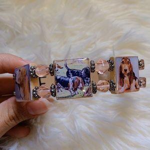 Jewelry - *Handmade* Basset Hound Dog Lovers Bracelet